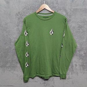 Volcom green long sleeve tee